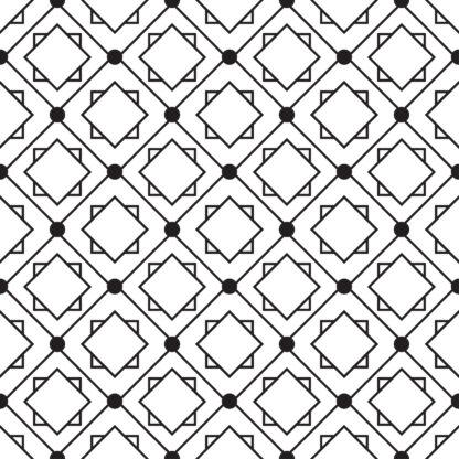 Vinilo Azulejo Geométrico negro
