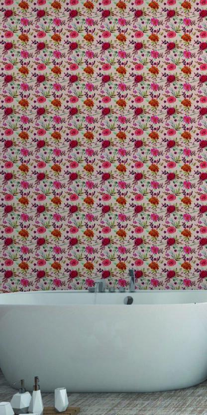 Vinilos para dormitorios flores rosas.