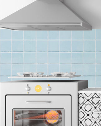 Vinilos cocina azulejos azules