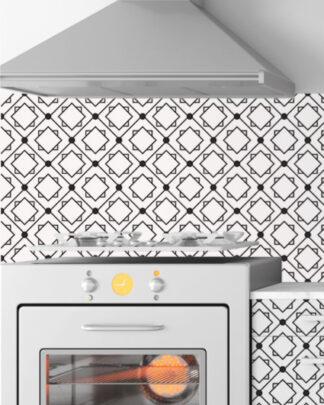 Vinilos cocina azulejos geométricos